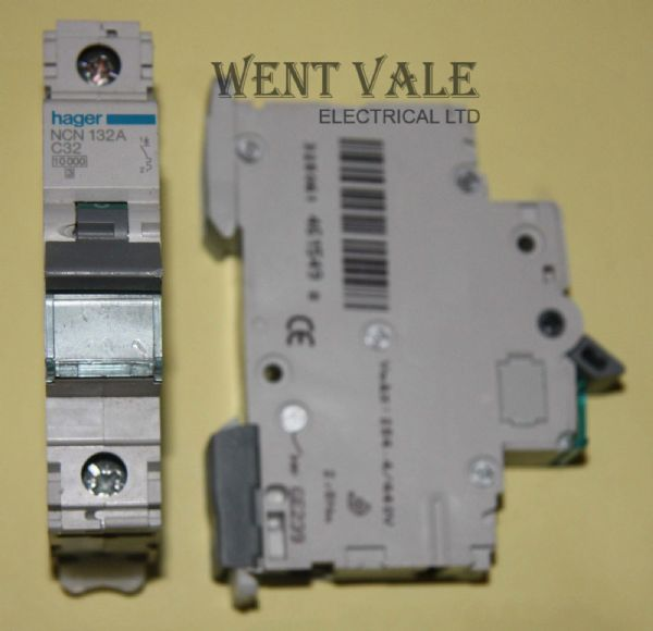 Hager NCN132 - 32a Type C Single Pole MCB Used